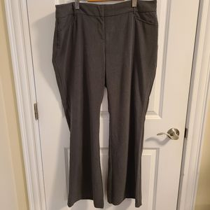 Charcoal grey straight cut trousers